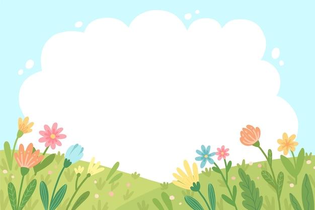 Естественный фон с цветами