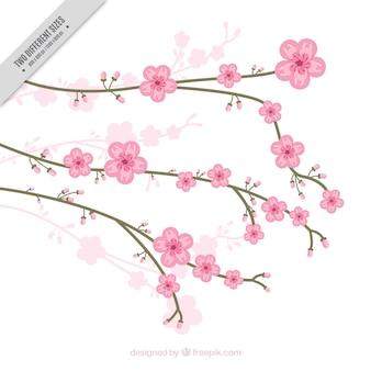 예쁜 벚꽃과 자연 배경