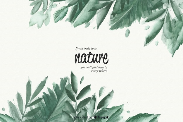 Natural background with quote