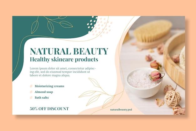 Natural beauty banner template
