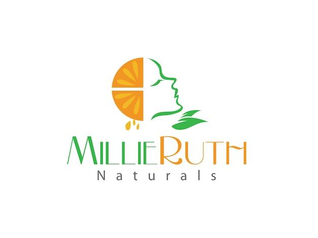 Natural beauty product logo design