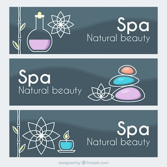 Natural beauty spa banners