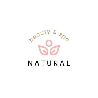 Natural beauty and spa logo design illustration