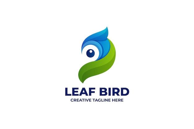 自然な鳥のグラデーションのロゴ