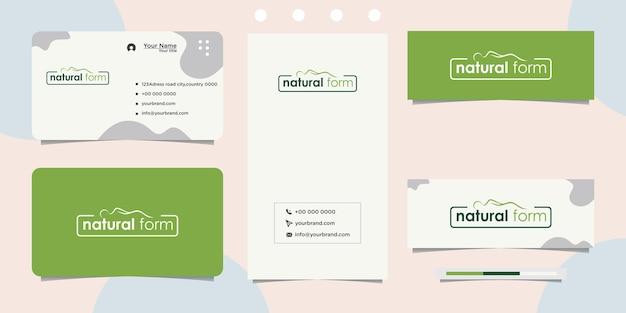 Дизайн логотипа натурального ухода за телом и визитная карточка