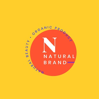 Natural brand logo badge design