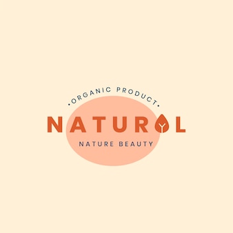 Natural brand logo badge design