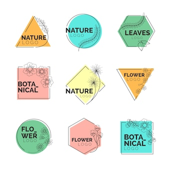 Natural business logo collection in minimal design