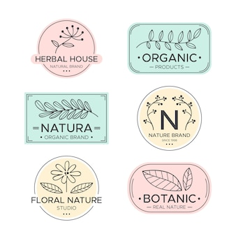 Natural business logo collection minimal style