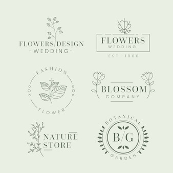 Natural business logo pack in minimal style