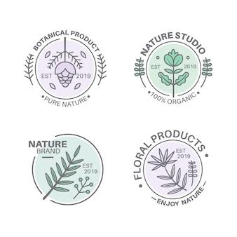 최소한의 스타일로 자연 비즈니스 로고 설정