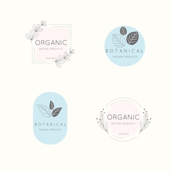 Natural business logo set in minimal style