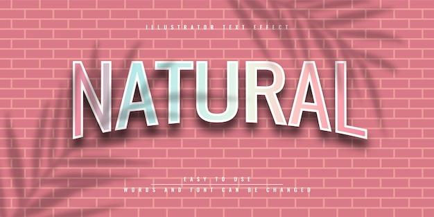 Дизайн шаблона редактируемого текстового эффекта natural butterfly illustrator