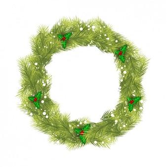 자연적인 christma 화환