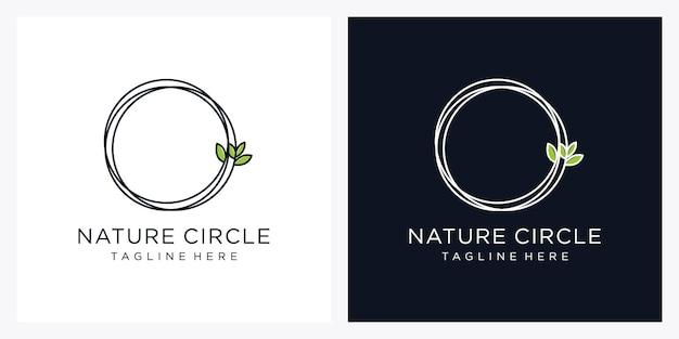 자연 원형 로고 디자인 서식 파일