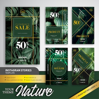 Natural colorful theme fashion sale instagram story template design