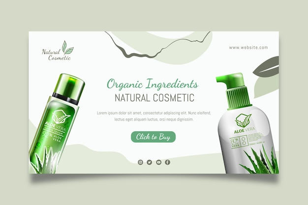 Natural cosmetic banner template