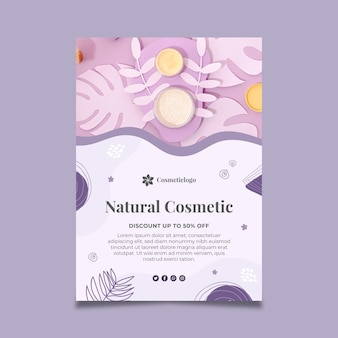 自然化粧品縦型チラシ