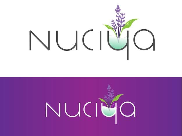 Natural cosmetics brand logo design