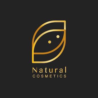 Natural cosmetics design logo vector