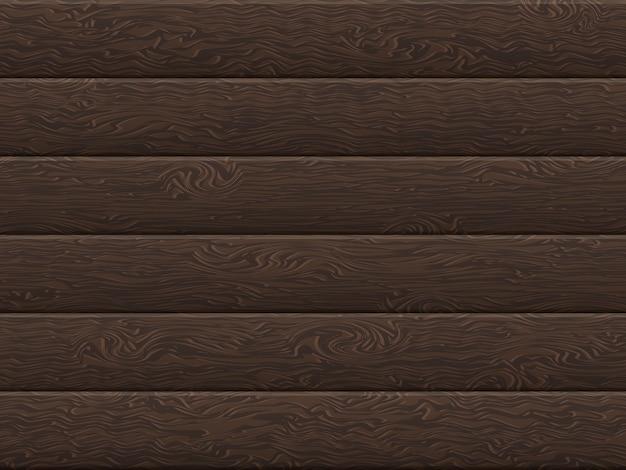 Natural dark wooden boards background. Premium Vector