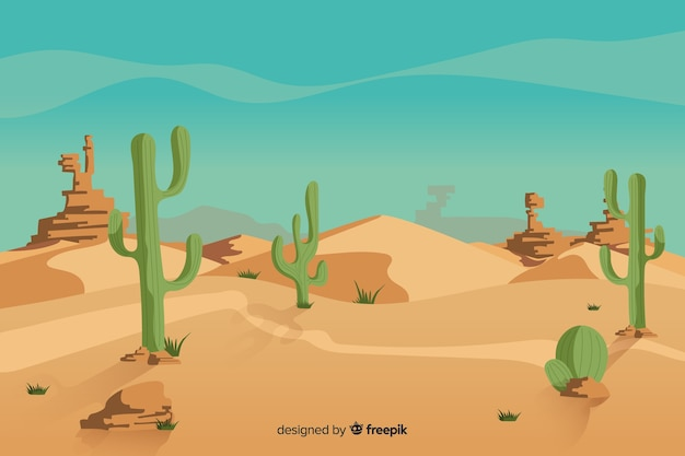Natural desert landscape with cactus