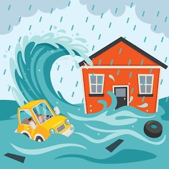 自然災害大災害津波