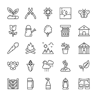 Natural elements vector icons