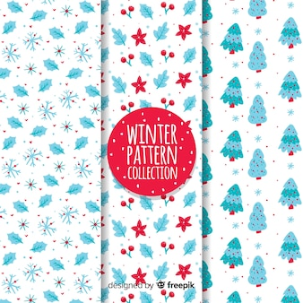 Natural elements winter pattern collection