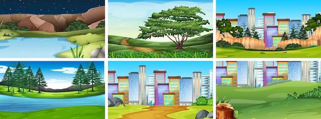 Сцена ландшафта окружающей среды