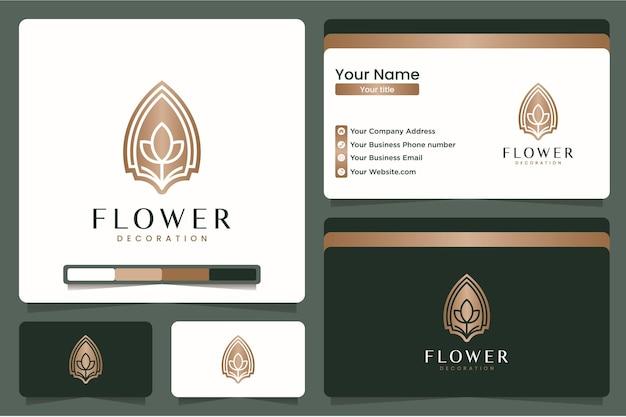 Натуральный цветок, вдохновение для дизайна логотипа