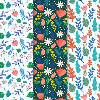 Natural flowers spring seamless pattern