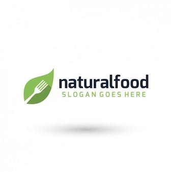Natural food logo template
