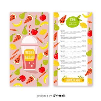 Natural food menu template