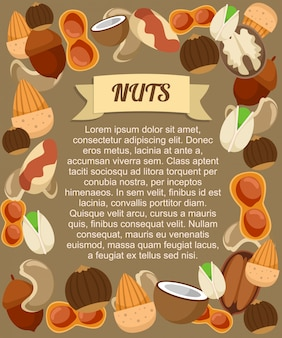 Natural food poster