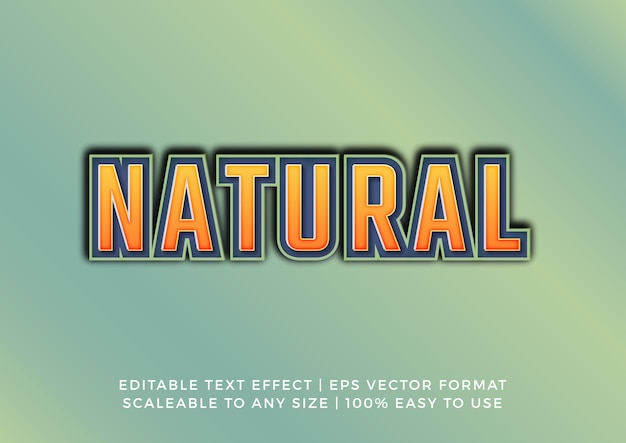 Natural form title text effect