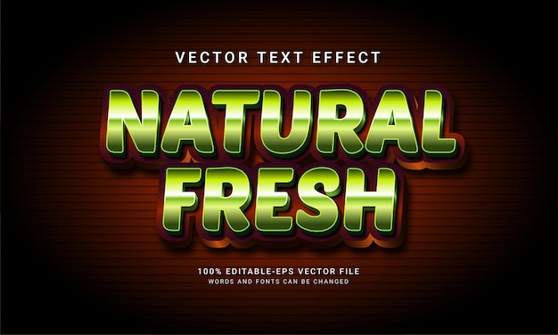Natural fresh 3d editable text style effect