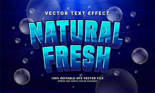 Natural fresh editable text style effect themed under water