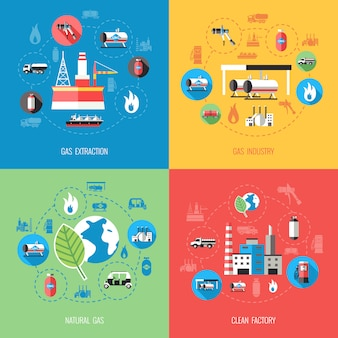 Natural gas industry concept