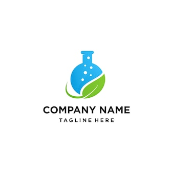 Natural green lab logo