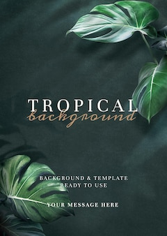 Natural green tropical background template
