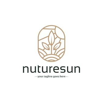 Шаблон логотипа естественного роста