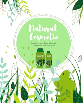 Natural herbal cosmetic organic products business.