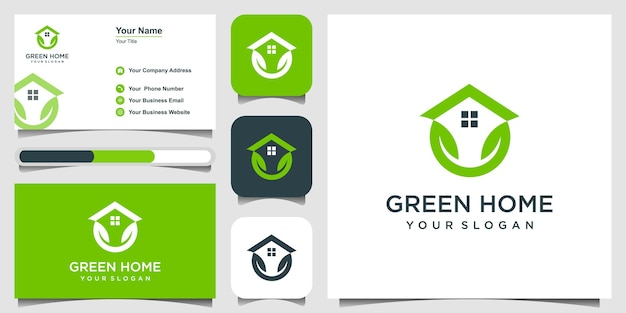 Natural home logo template vector illustration