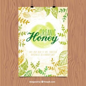 天然蜂蜜のポスター