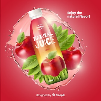 Natural juice ad