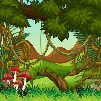 자연 정글 배경 장면