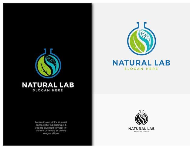Natural lab leaf logo