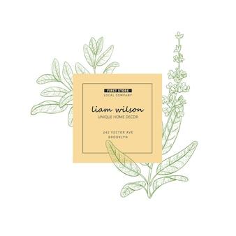 Натуральная этикетка, элементы эскиза фирменного стиля для упаковки, значка, карты.