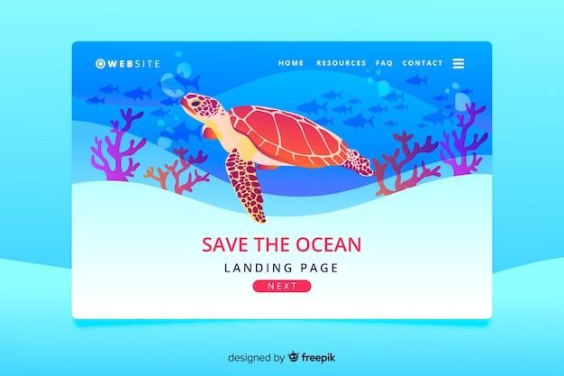 Natural landing page with animals